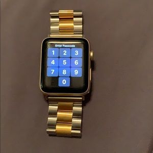 Other - Apple Watch Band Silver with Gold Accent